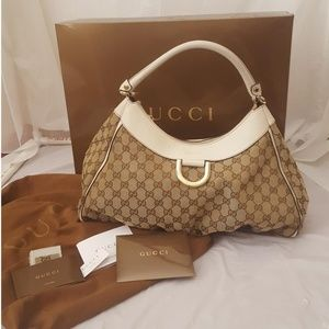 Authentic GUCCI Monogram 'D' RING HOBO bag